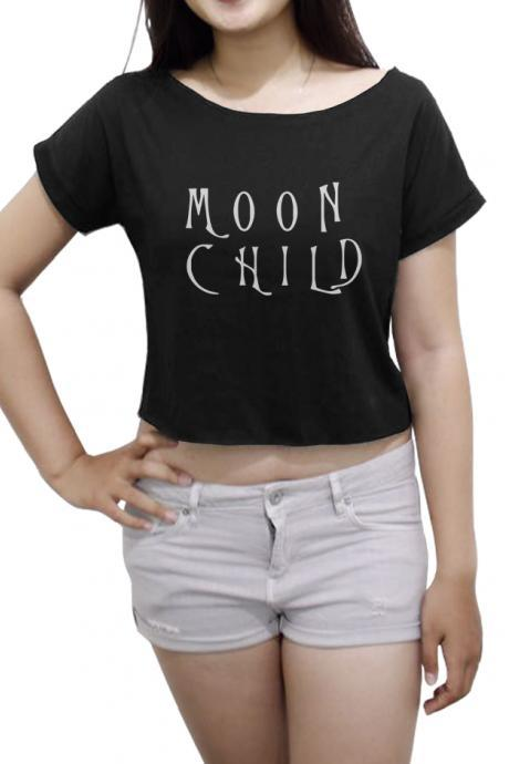 Moon Child Women's Crop Top Funny